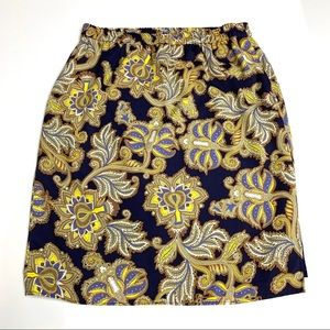 LOFT Patterned Skirt, S